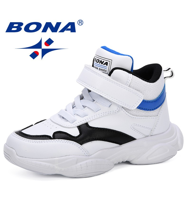 BONA 2019 Children Fashion Shoes Boys Sneakers High Top Spring Autumn Kids Sport Shoes Boys Casual Anti-Slippery Leisure Shoes