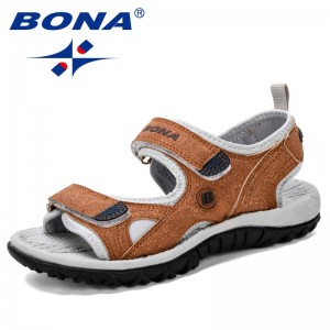 BONA 2019 New Popular Children Sandals Summer New Boy Beach Shoes Kids Casual Sandals Children Comfortable Sport Sandals Trendy
