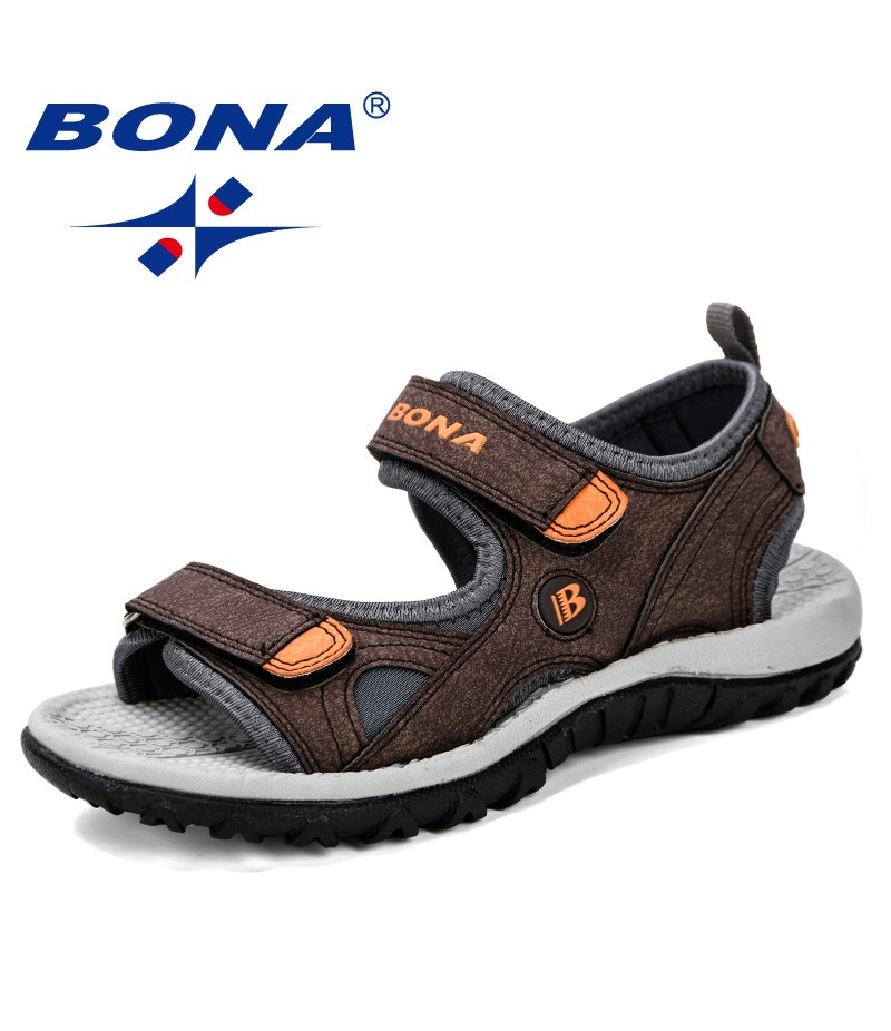 BONA 2019 New Popular Children Sandals Summer New Boy Beach Shoes Kids Casual Sandals Children Comfortable Sport Sandals Trendy