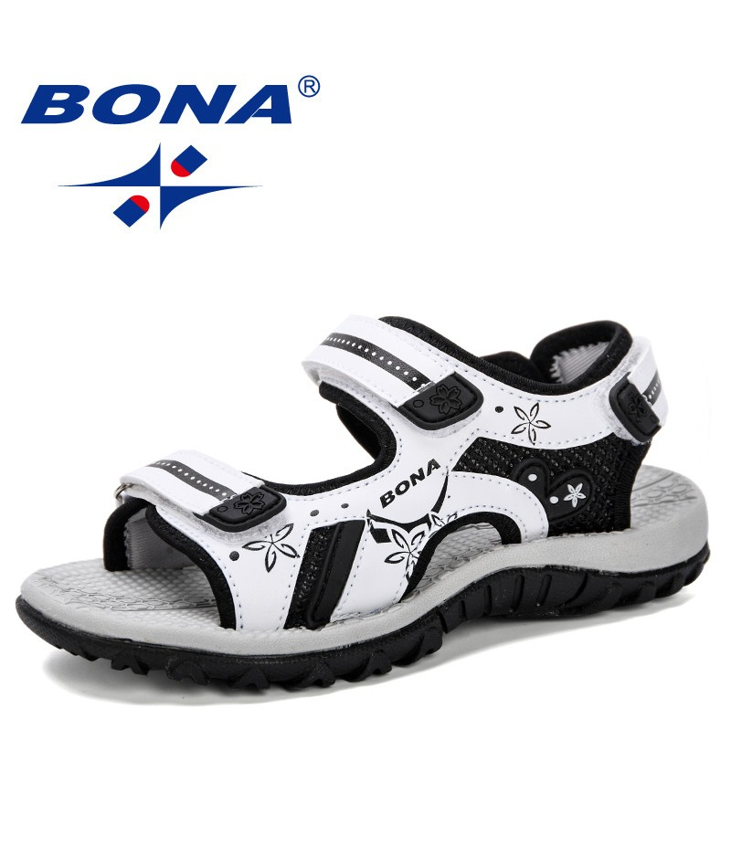BONA 2019 New Arrival Children Sandals Summer New Fashion Boy Student Shoes Anti-Slip Soft Bottom Girls Open Toe Sandals Comfy