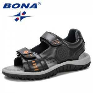 BONA 2019 Summer New Children's Sandals Comfortable Children'S Shoes Boys Sandals Casual Non-Slip Sport Trendy Kids Beach Shoes