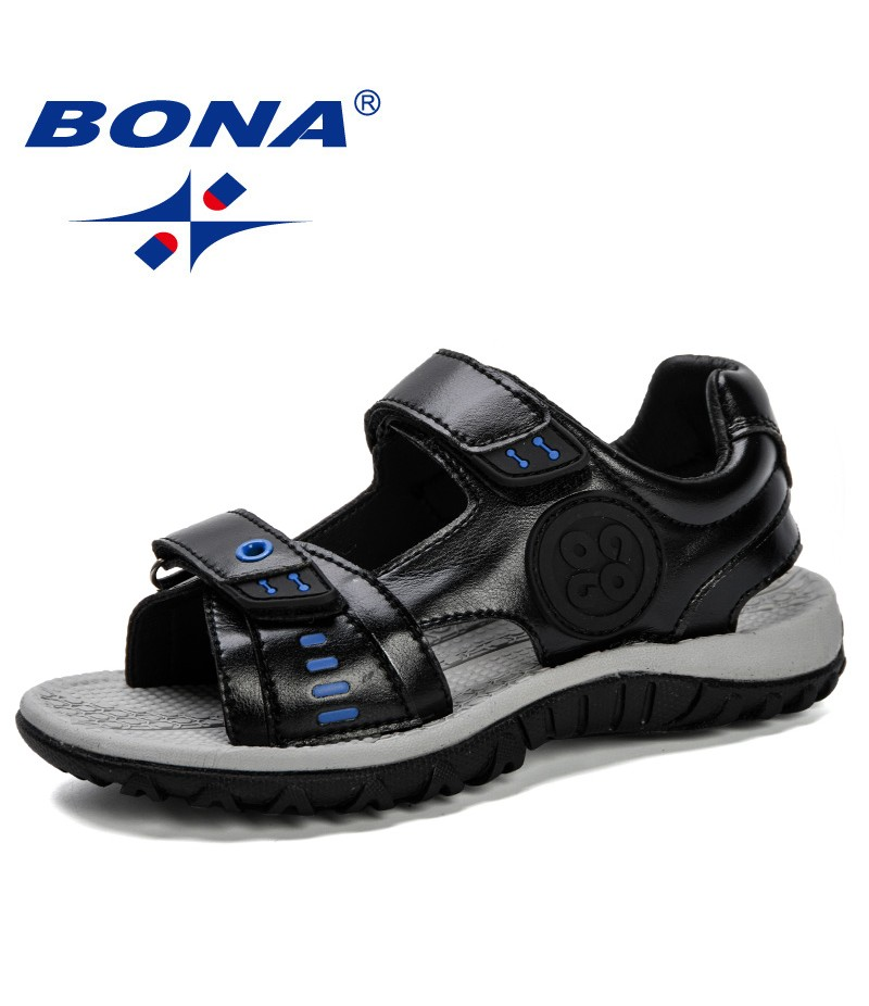 BONA 2019 Summer New Children's Sandals Comfortable Children'S Shoes Boys Sandals Casual Non-Slip Sport Trendy Kids Beach Shoes