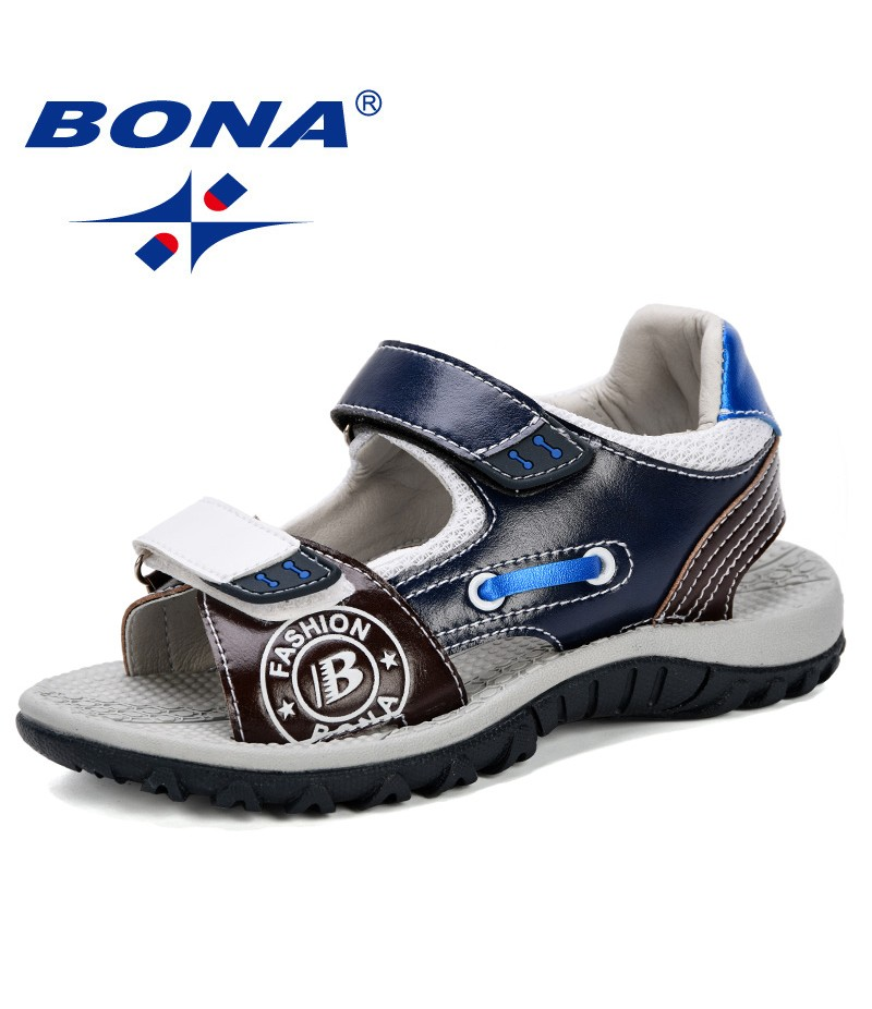 BONA 2019 New Desiger Boys Sandals Children's Shoes Boy Fashion Sandal Kids High Quality Comfortable Casual Beach Sandals Girls