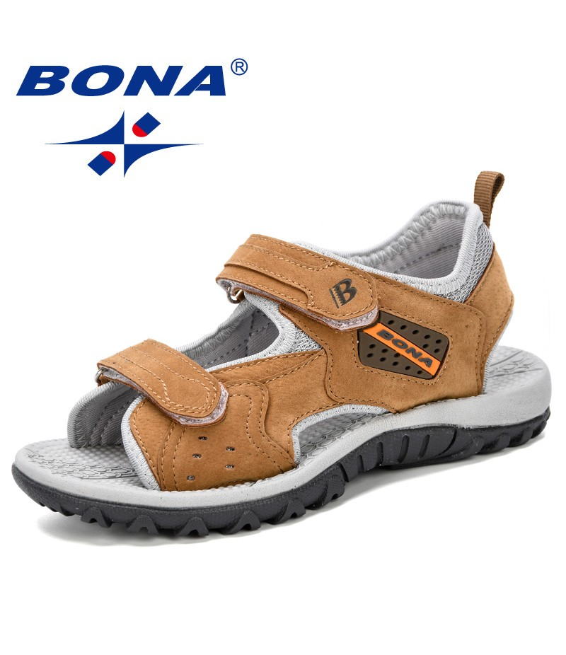 BONA 2019 Summer Kids Shoes Brand Open Toe Boys Sport Beach Sandals Orthopedic Arch Support Children Boys Sandals Shoes Comfy