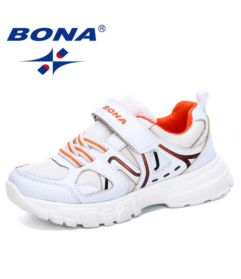 BONA 2019 New Sport Children Shoes Kids Boys Sneakers Spring Autumn Net Mesh Breathable Casual Girls Shoes Running Shoes Comfy