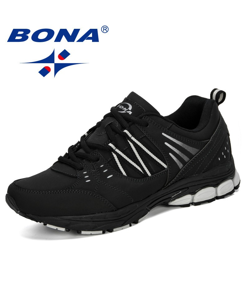 BONA 2019 Men Running Shoes Breathable Outdoor Sports Shoes Lightweight Sneakers Male Comfortable Athletic Training Footwear