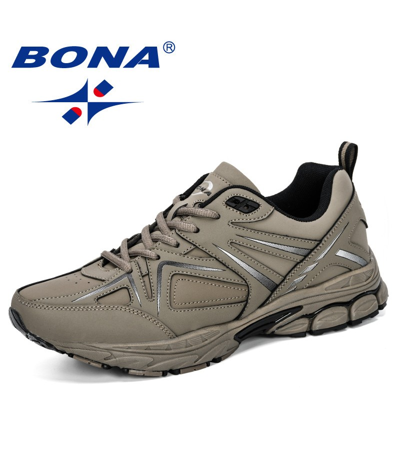 BONA 2019 New Style Men Running Shoes Outdoor Sports Shoes Male Breathable Athletic Trainers Men Walking Jogging Hombre Footwear