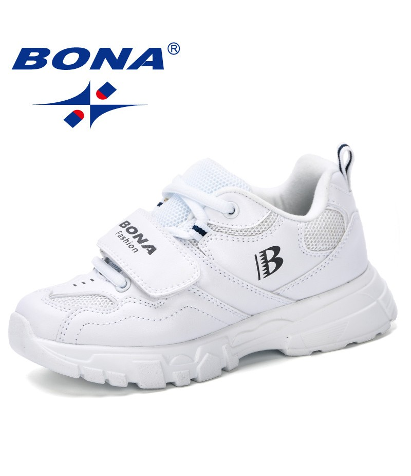 BONA 2019 Trainer Children Running Shoes Kids Sneaker Boys Casual Shoes Girls Footwear Sport Breathable Outdoor Fashion Shoes