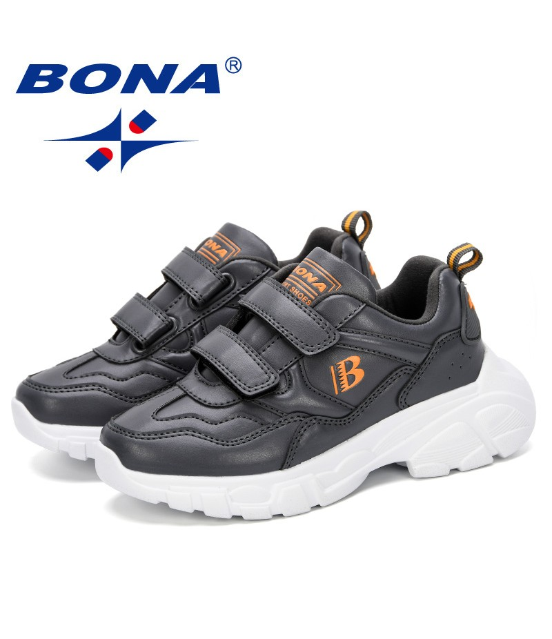 BONA 2019 Spring Autumn Children Shoes Boys Girls Sports Shoes Fashion Brand Casual Breathable Outdoor Kids Sneakers Trendy Shoe
