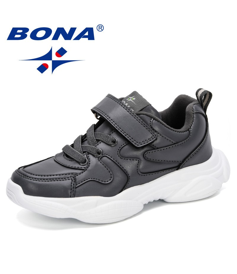 BONA 2019 Kid Sneaker Running Shoes Unisex Children Sports Trainers Shoes Comfortable Outdoor Walking Shoes For Boy Casual Shoes