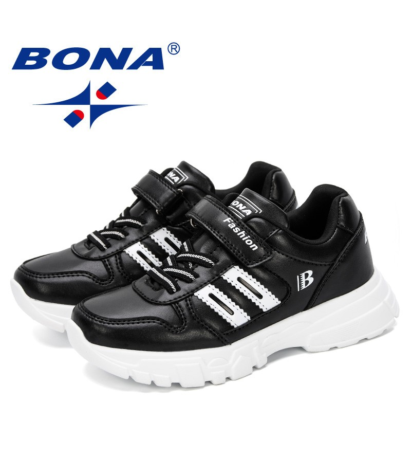 BONA 2019 Boys Girls Hot Sneakers Outdoor Big Children Fashion School Brand Sport Shoes New Popular Style Kids Casual Shoes