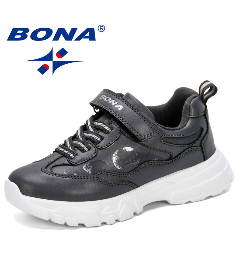 BONA 2019 Kids Sneakers Boys Shoes Hiking Children Shoes Anti-Slippery Synthetic Leather Chaussure Enfant Running Shoes Trendy