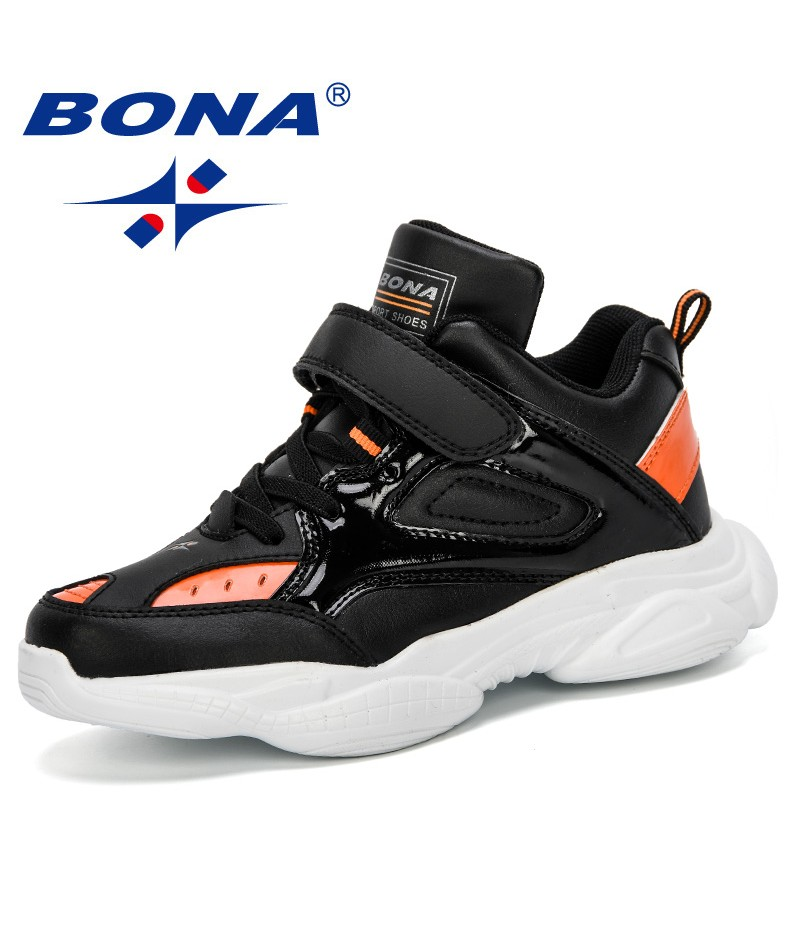 BONA 2019 New Casual Shoes Wearable Walking Footwear Children High Top Sneakers Shoes Boys Lace Up Footwear For Kids Comfortable