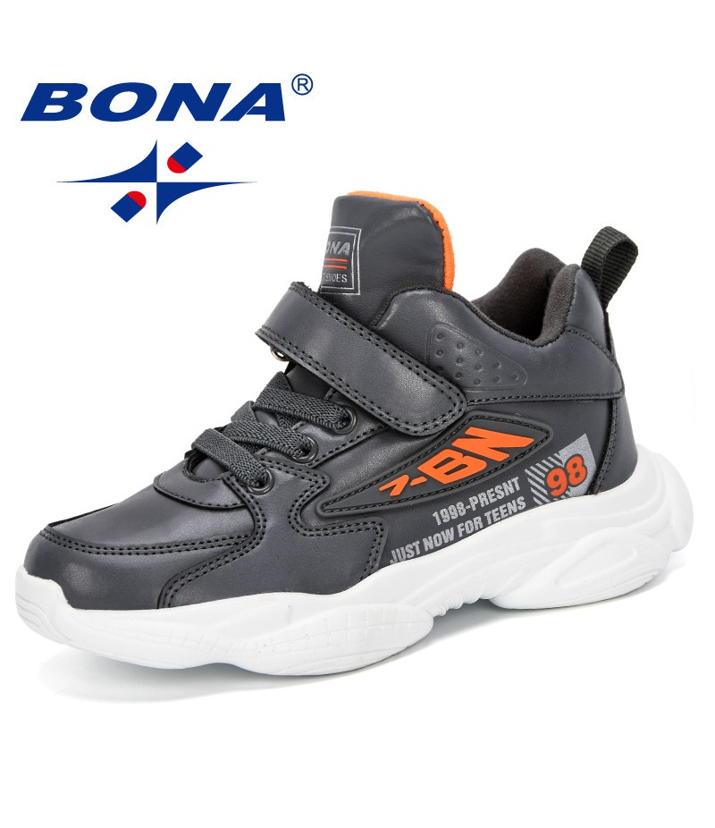 BONA 2019 Spring Kids Shoes Color Matching Children's Tennis Breathable Sport Shoes Fashion Footwear Girls Trendy Boys Sneakers