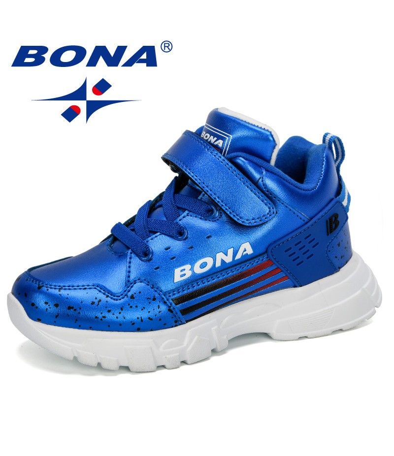 BONA 2019 New Popular Kids Sneakers Spring Autumn Children's Shoes Boys Casual Shoes Soft Bottom Girls Outdoor Walking Shoes