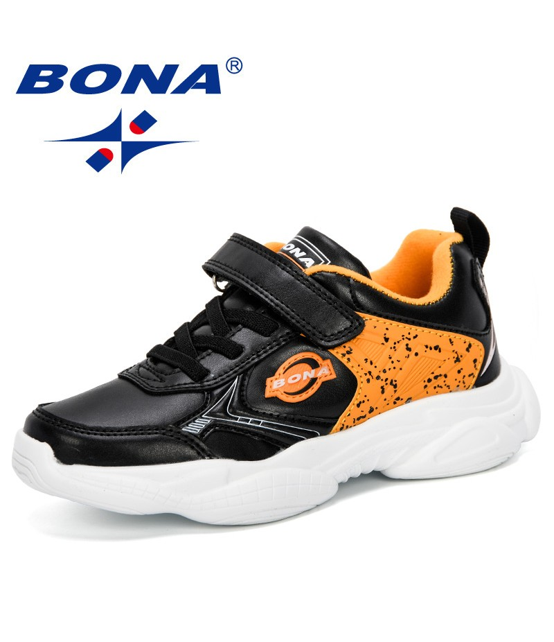 BONA 2019 New Spring/Autumn Children Shoes Sports Shoes Boys Fashion Casual Sneaker Girls Outdoor Training Breathable Kids Shoes