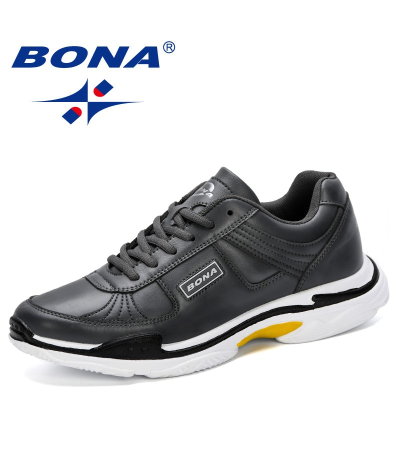 BONA 2019 Breathable New Listing Male Shoes Light Weight Outdoor Walking Sneakers Men Comfortable Casual Shoes Leisure Footwear