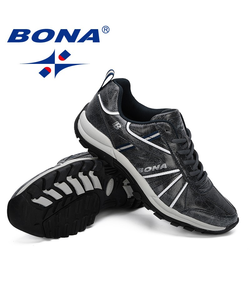 BONA 2019 New Classics Style Shoes Men Flats Lace Up Shoes Breathable Men Casual Shoes Fashion Sneakers Man Loafers Comfortable