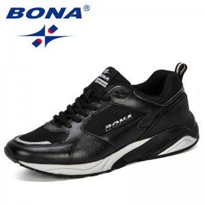 BONA 2019 Men Casual Shoes Breathable Leisure Shoes Tenis Masculino Adulto Lightweight Comfortable Mesh Men Sneakers Shoes