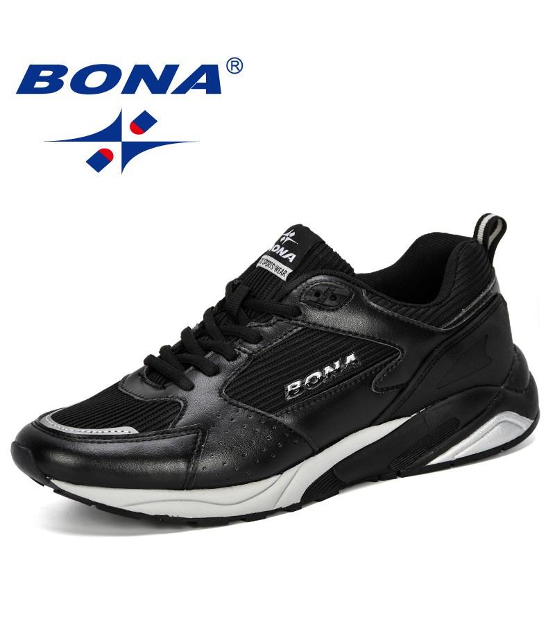 BONA 2019 Men Casual Shoes Breathable Leisure Shoes Tenis Masculino Adulto Lightweight Comfortable Mesh Men Sneakers Shoes