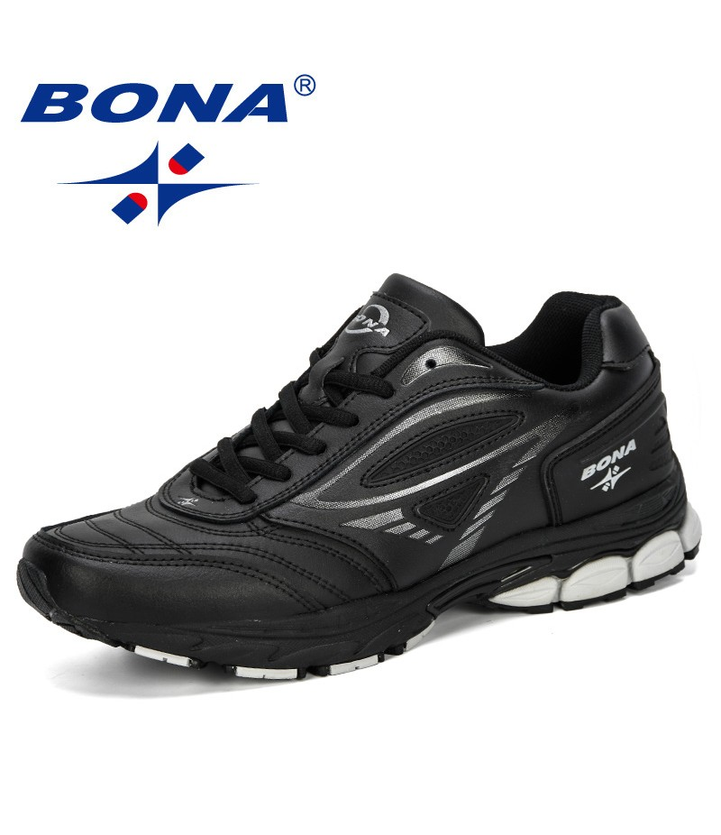 BONA 2019 New Men Sneakers Outdoor Sports Shoes Male Athletic Trainers Men Walking Jogging Hombre Footwear Man Running Shoes