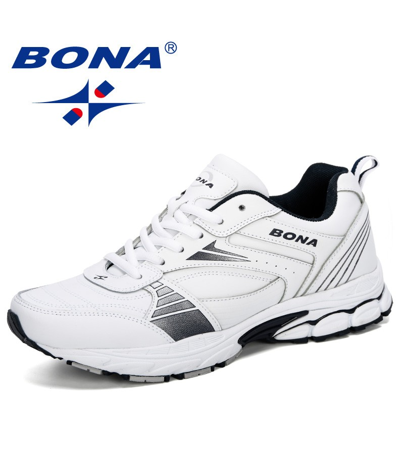 BONA 2019 Men's Running Shoes Man Sports Shoes For Male Sneakers Men Outdoor Chaussure Homme Athletic Shoes Tennis Comfortable
