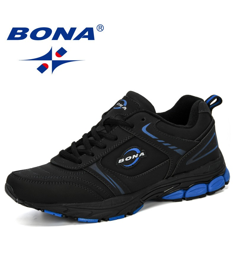 BONA 2019 New Style Men's Sneakers Men Running Shoes Sports Shoes Men Athletic Shoes Male Breathable Chaussure Homme Comfortable