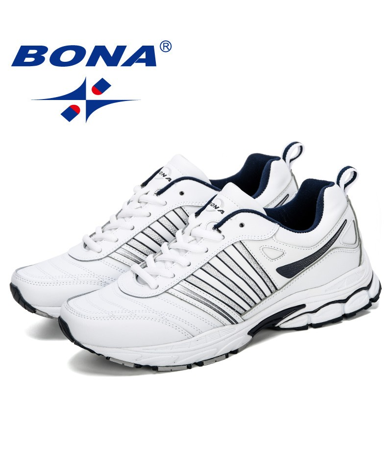 BONA 2019 New Style Men Running Shoes Breathable Outdoors Sports Shoes Zapatos Lightweight Comfortable Athletic Male Sneakers