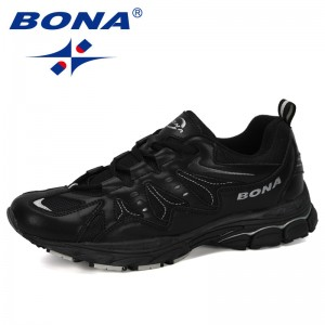 BONA 2019 New Designer Seasons Running Shoes Men Cow Split Sports Shoes Man Outdoor Sneakers Betis Zapatillas Walking Footwear