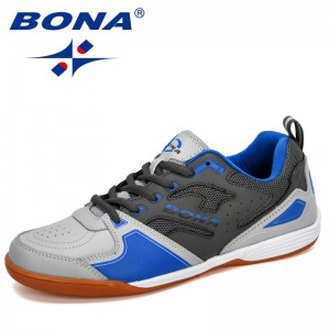 BONA 2019 New Designer Men Soccer Shoes Outdoor Training Football Boots Man Sport Sneakers Athletic Shoes Male Leather Comfortab