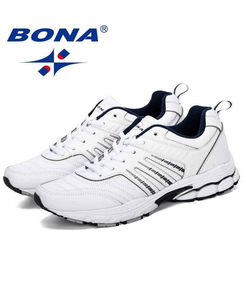 BONA 2019 New Running Shoes Breathable Male Shoes Tenis Masculino Shoes Men Zapatillas Hombre Sapatos Sneakers Man Sport Shoes