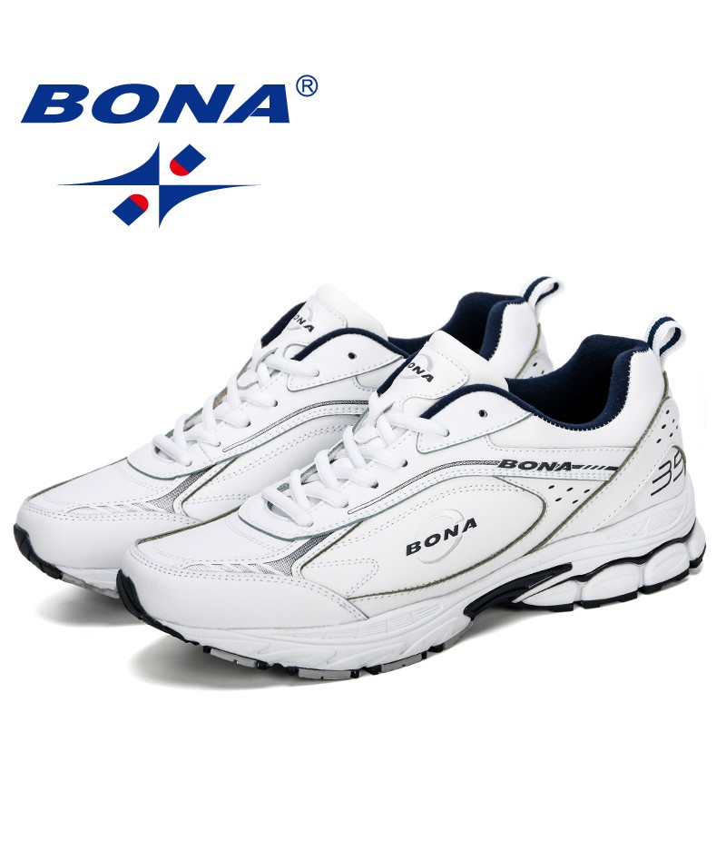 BONA 2019 New Adult Men Sneakers Summer Breathable Krasovki Shoes Outdoor Running Shoes Male Tenis Masculino Sneakers Man
