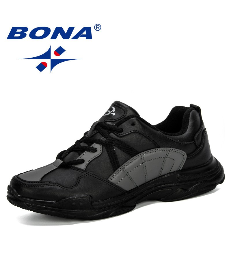BONA 2019 New Designer Men Sneakers Casual Shoes Comfortable Breathable Outdoor Shoes Lovers Sneakers Chaussure Homme Trendy