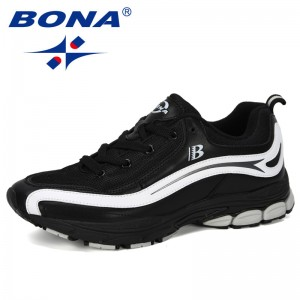 BONA 2019 New Designer Trend Running Shoes Men's High Quality Sports Outdoor Lace-up Jogging Shoes Zapatillas Hombre Comfortable