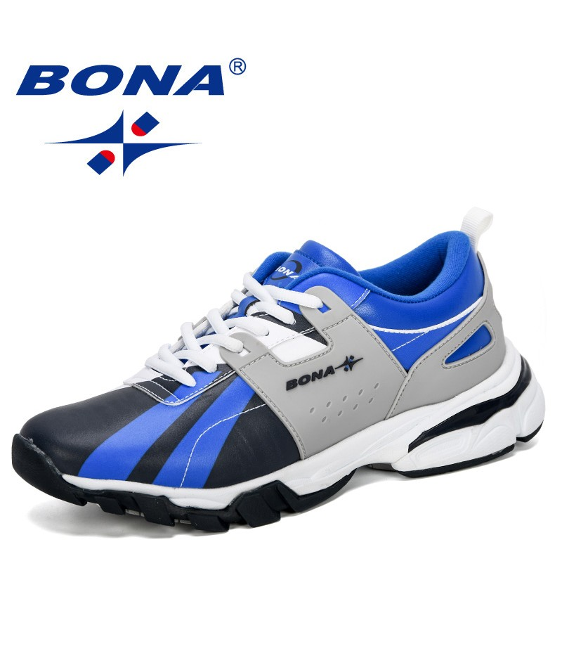 BONA 2019 New Designer Classics Style Men Running Shoes Outdoor Sneakers Man Trainers Jogging Shoes For Men Athletic Shoes Male