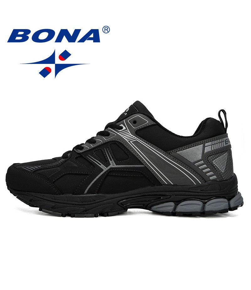 BONA 2019 New Designer Men Running Shoes Sports Air Cushion Sneakers Man Mesh Male Shoes Adult Tennis Breathable Athletic Shoes