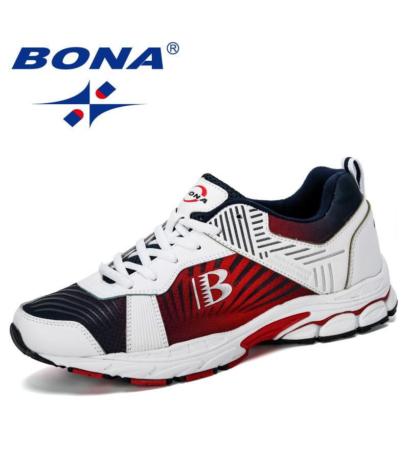 BONA 2019 New Designer Chaussure Homme Outdoor Men Running Shoes Sports Sneakers Men Jogging Walking Shoe Man Trendy Comfortable