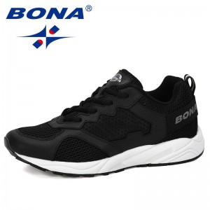 BONA 2019 New Arrival Vulcanize Shoes Men Sneakers Breathable Casual No-Slip Lace Up Wear-Resistant Man Shoes Tenis Masculino