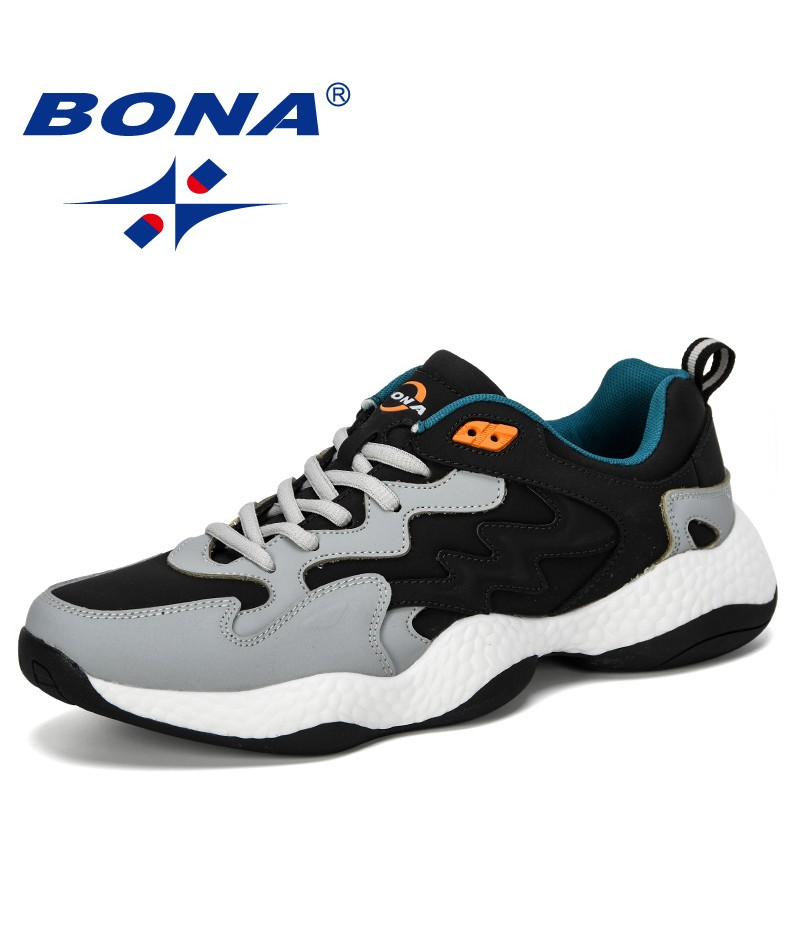 BONA 2019 New Popular Style Spring Autumn Casual Shoes Men Outdoor Sneakers Man Fashion Men Comfortable Leisure Footwear Trendy