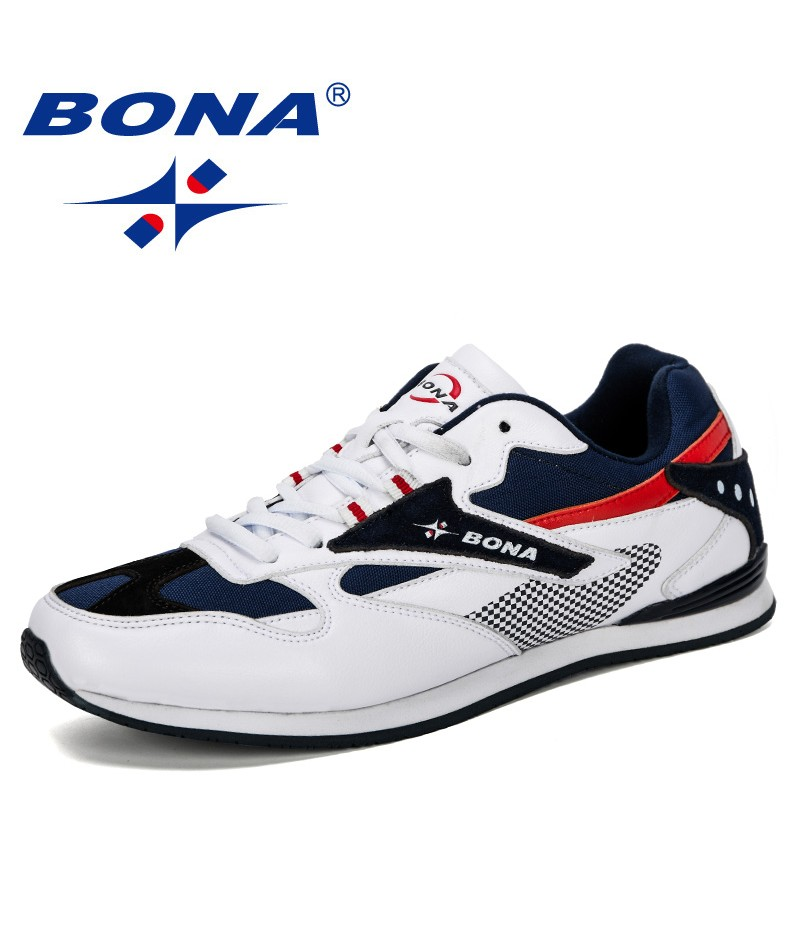 BONA 2019 New Designer Men Sneakers Lightweight Breathable Zapatillas Casual Shoes Man Leisure Footwear Outdoor Zapatos Hombre