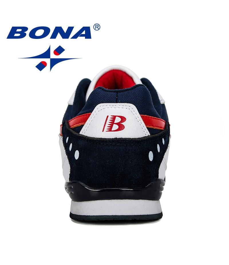 BONA 2019 New Designer Men Sneakers Lightweight Breathable Zapatillas Casual Shoes Man Leisure Footwear Outdoor Zapatos Hombre