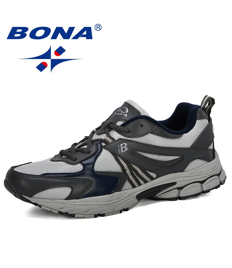 BONA 2019 New Classics Style Men Running Shoes Outdoor Sneakers Shoes Men Sports Shoes Male Jogging Shoes Walking For Adult