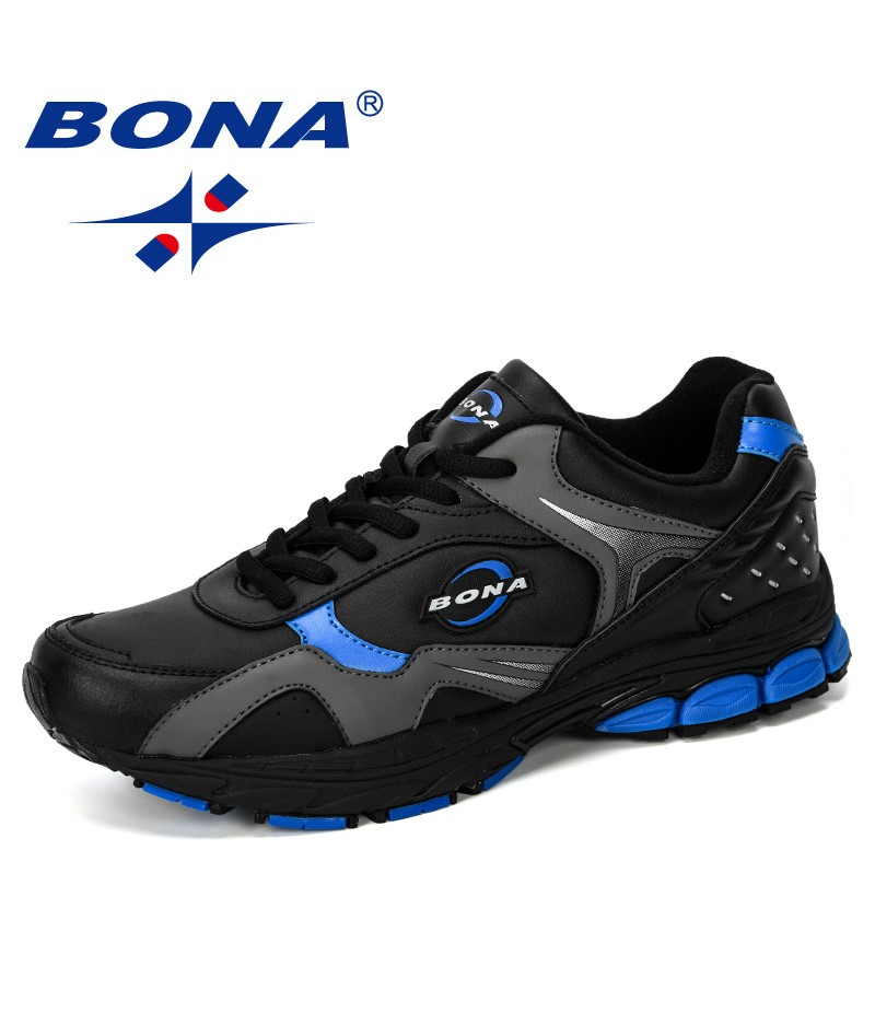 BONA 2019 New Designer Running Shoes Men Sports Sneakers Shoes Classic Zapatillas Deportivas Athletic Outdoor Trainers Shoes Man