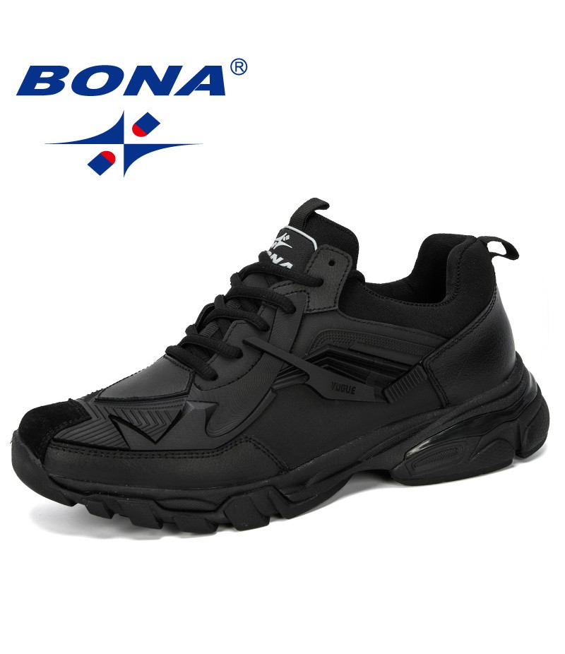 BONA 2019 New Designer Casual Shoes Men Trendy Style Men Sneakers Flat Outdoor Leisure Footwear Male Comfortable Man Shoes Light