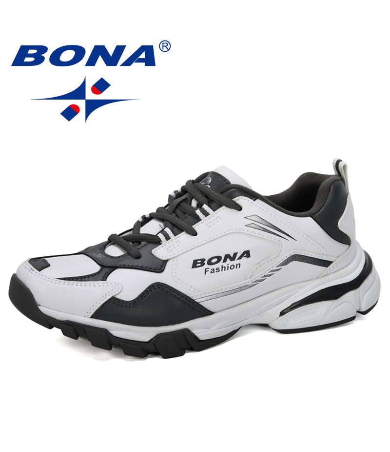 BONA 2019 New Arrival New Style Running Shoes Men Sneakers Outdoor Sport Shoes Men Jogging Trainning Shoes Lace Up Male Shoes