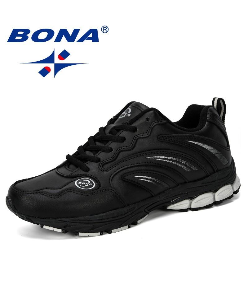 BONA 2019 New Designer Chaussure Homme Outdoor Men Running Shoes Sport Sneakers Men Athletic Shoes Walking Shoe Men Comfortable