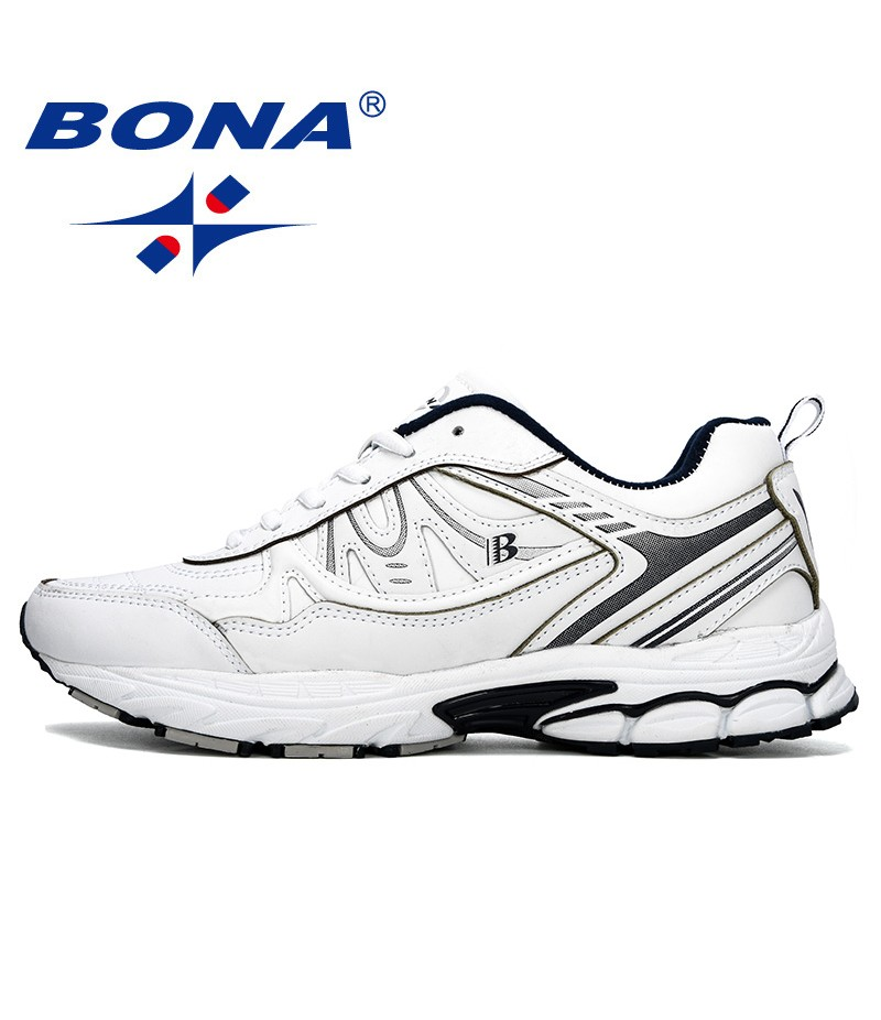 BONA 2019 New Classics Men Running Shoes Outdoors Sports Shoes Zapatos Lightweight Comfortable Athletic Male Sneakers Trendy