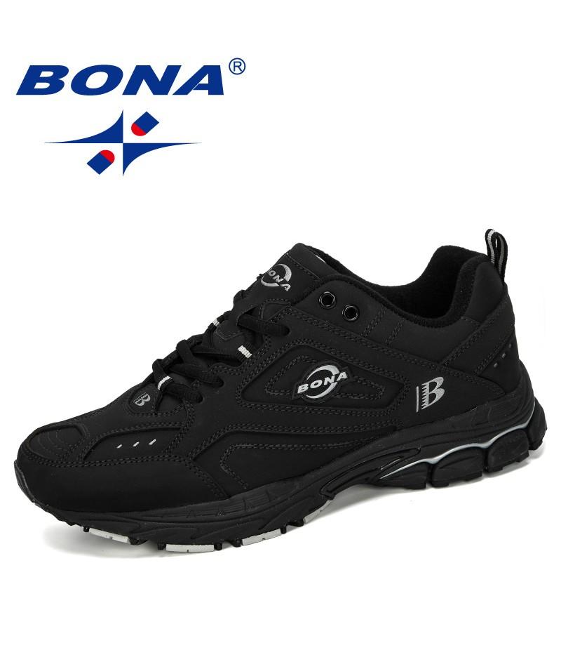 BONA 2019 New Designer Trendy Casual Shoes Men Cow Split Sneakers Male Durable Outsole Trainer Zapatillas Deportivas Hombre