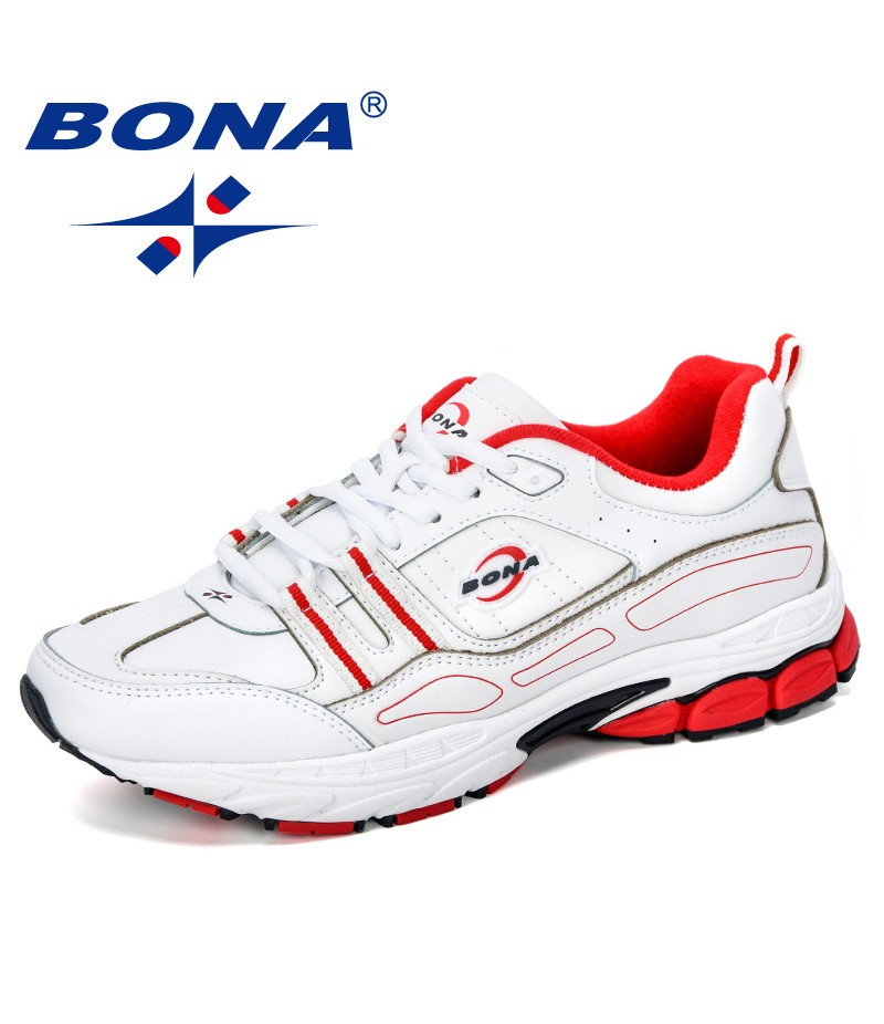 BONA 2019 New Popular Men Sport Shoes Man Sneakers Men Running Shoes Sports Shoes Male Outdoor Trainers Action Leather Tennis
