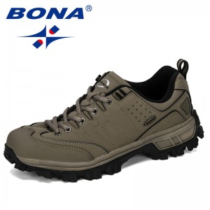 BONA 2019 New Designer Classics Style Men Hiking Shoes Comfortable Outdoor Brand Non-Slip Sports Shoes Popular Low Uppert Shoes